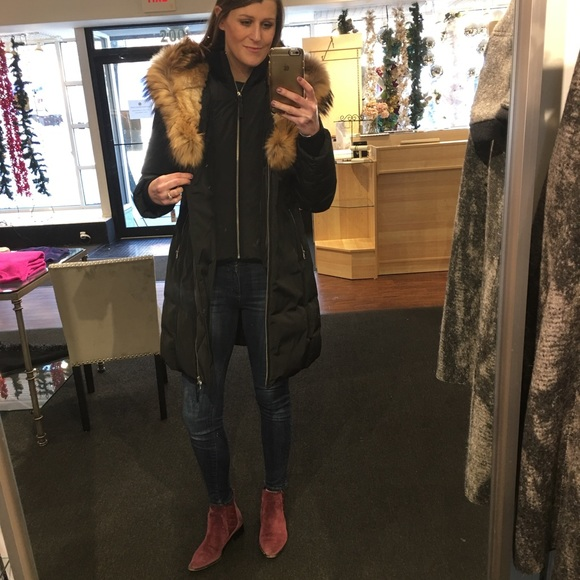 order competitive price to buy Mackage Trish Mid Length Winter Down Coat with Fur Boutique